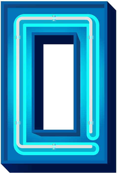 number  blue neon png clip art image gallery