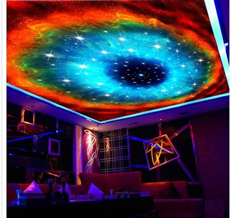 3d Galaxy Wallpaper For Ceiling by Custom Photo Wallpaper Large 3d Sofa Tv Background