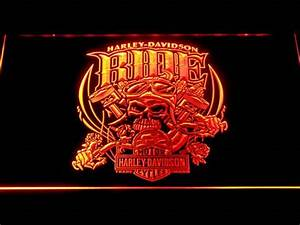Harley Davidson Skull Ride LED Neon Sign