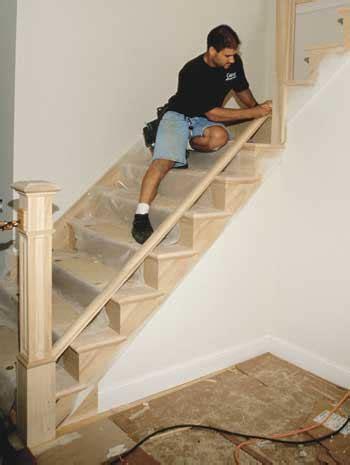 installing stair railings jlc  staircases