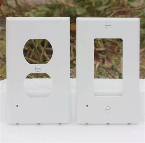 ac us outlet night light cover wall plate panel with built