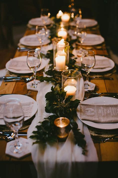 natural wedding inspiration with an illuminated reception