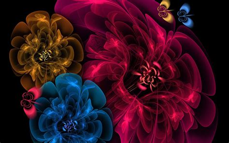 Flower 3d Wallpaper New by Psychedelic Wallpapers Wallpaper Cave