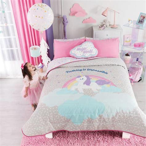 blue gray comforter unicorn bedding set trend vianney home decor