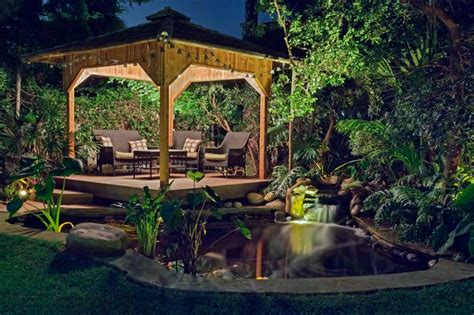 Kitchen Dining Rooms Designs Ideas - koi pond and tropical gazebo encinitas