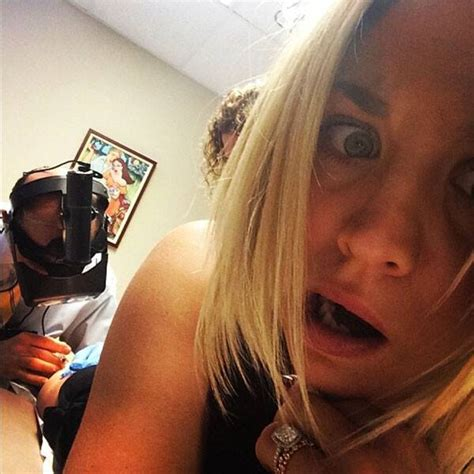 Kaley Cuoco Snaps Selfie While Getting Zapped In Latest Instagram Pic Jokes Shes Soooo Vein