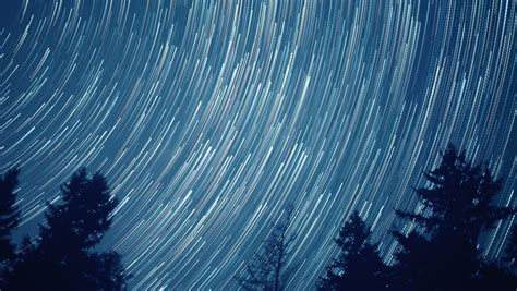 Astrophotography Time Lapse Milky Way Galaxy Zoom In Stock