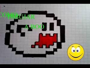 /Como dibujar el fantasma DE MARIO BROS EN CUADRICULA YouTube