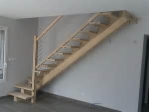 Escalier Spa Bois by Fabrication D Escalier En Bois 224 Limon Central Sur Mesure
