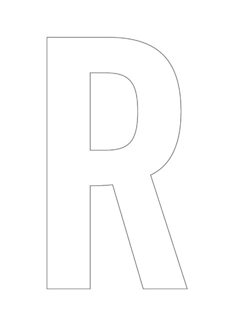 letter outline template 8 best images of letter r template printable free printable alphabet templates letter r