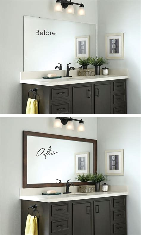 Bathroom Mirror Makeover by Mirror Makeover Add A Frame For An Instant Bathroom
