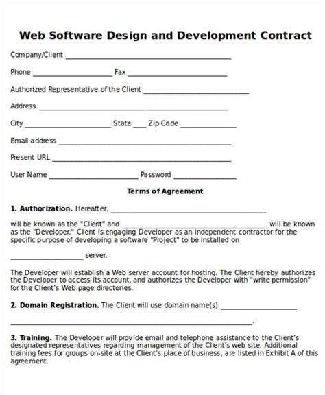 web design contract 12 contract sles in word sle templates