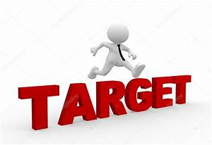 Person jumping over word target — Stock Photo © orlaimagen ...