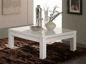 Table Salon Blanc Laqué : table basse prestige 302 laque blancl 127 x h 43 x p 66 ~ Teatrodelosmanantiales.com Idées de Décoration