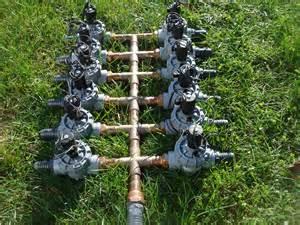 Irrigation Sprinkler System Manifold