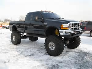 Lifted Black Ford 350 Diesel Trucks