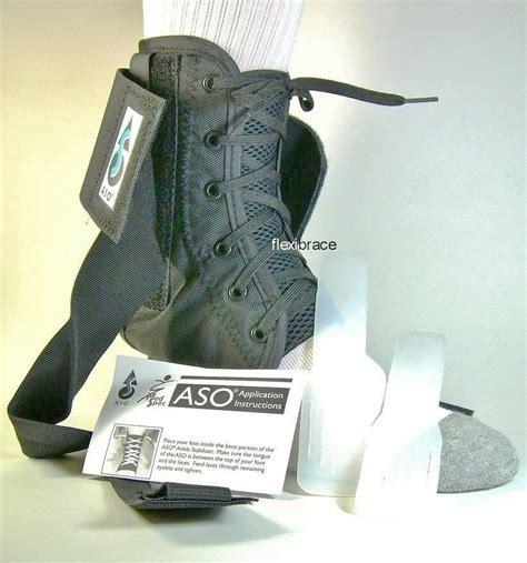 aso ankle brace support  plastic stays brand  ebay