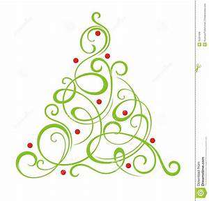 Clip Art Tree Modern Christmas Clipart - Clipart Suggest