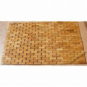 tapis de bain bambou wikiliafr With tapis salle de bain bambou