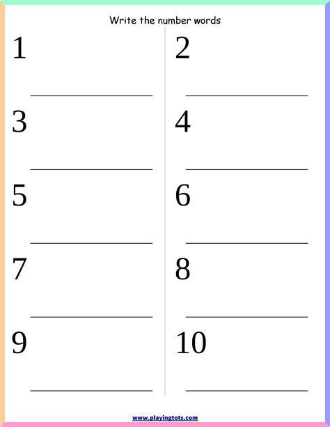 worksheet number words keywords free printable pdf