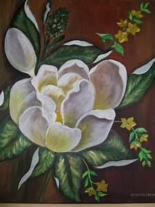 Fleur De Magnolia : fleur de magnolia peinture acrylique sur toile 5ox4o ~ Melissatoandfro.com Idées de Décoration