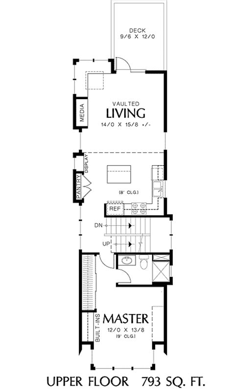 perfect home plan   narrow lot   floor