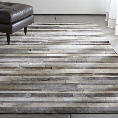 Cowhide Patchwork Rug Gray by Gray Stripes Cowhide Patchwork Rug Grey Cowhide Rug