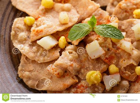indian chaat cuisine indian streetfood papri chaat stock image image 57761931