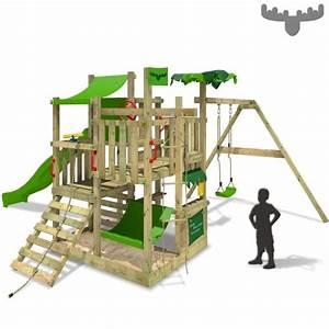 Portique Bois Pas Cher : aire de jeux fatmoose bananabeach big xxl portique achat ~ Premium-room.com Idées de Décoration