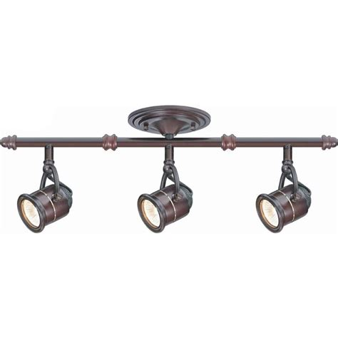hton bay 3 light antique bronze ceiling bar track