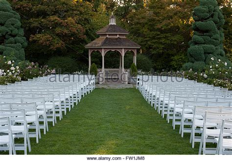 flower gardens with gazebo stock photos flower gardens