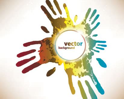 abstract hands background ai svg eps vector
