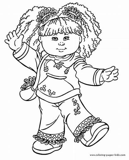 Coloring Cabbage Patch Pages Cartoon Printable Character
