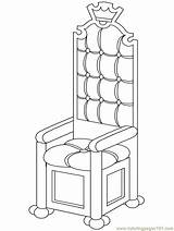 Chair Coloring Fantasy Throne Template Royal Royalti Religions King Sketch Coloringpages101 Printable Advertisement sketch template