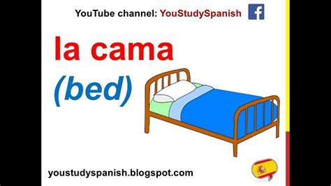 spanish lesson  furniture   bedroom  spanish