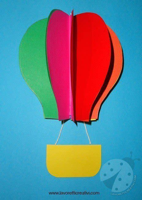 mongolfiera portanome lavoretti creativi