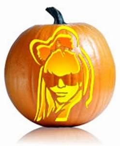 Lady Gaga Pumpkin Carving Stencil