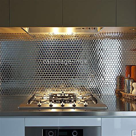 plaque cuisine inox plaque crédence cuisine inox miroir mosaique miroir
