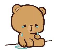 Sad Crying Cartoon Bear