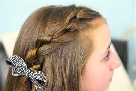 knotted pullback easy hairstyles cute hairstyles