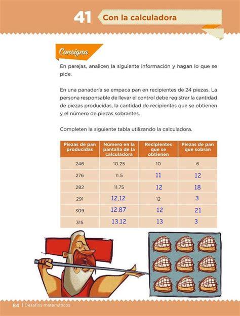 con calculadora desaf 237 o 41 desaf 237 os matem 225 ticos quinto grado contestado tareas cicloescolar
