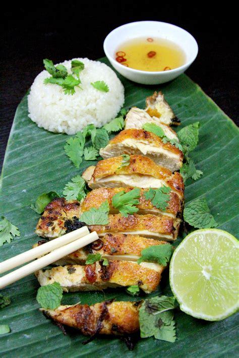 cuisine asie poulet grillé à la citronnelle et à la coriandre asie