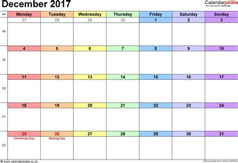 calendar december uk bank holidays excelpdfword templates