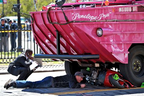 Duck Boat Tours Death woman on scooter struck killed by duck boat in downtown