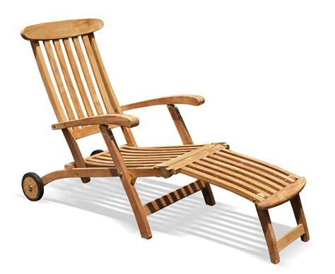 halo teak steamer chair with free cushion wheels brass