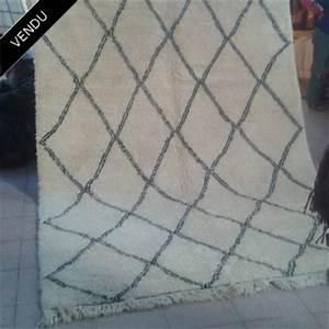 Tapis Berbere Laine : tapis berb re beni ouarain en laine d 39 agneau losanges ~ Teatrodelosmanantiales.com Idées de Décoration