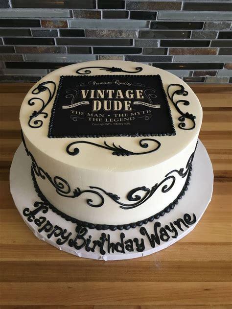 vintage dude birthday cake scroll work  birthday