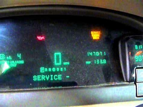 reset  change oil light   cadillac auto