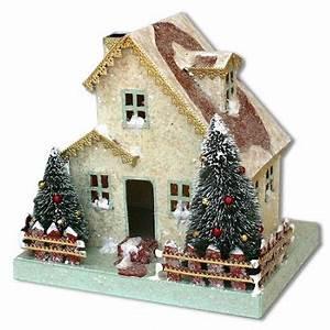 Maison De Noel Miniature : miniature putz house days of yore maison de noel maison miniature maison ~ Nature-et-papiers.com Idées de Décoration