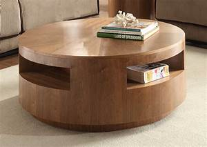 Round coffee tables for your cozy seating area traba homes for Circle storage coffee table